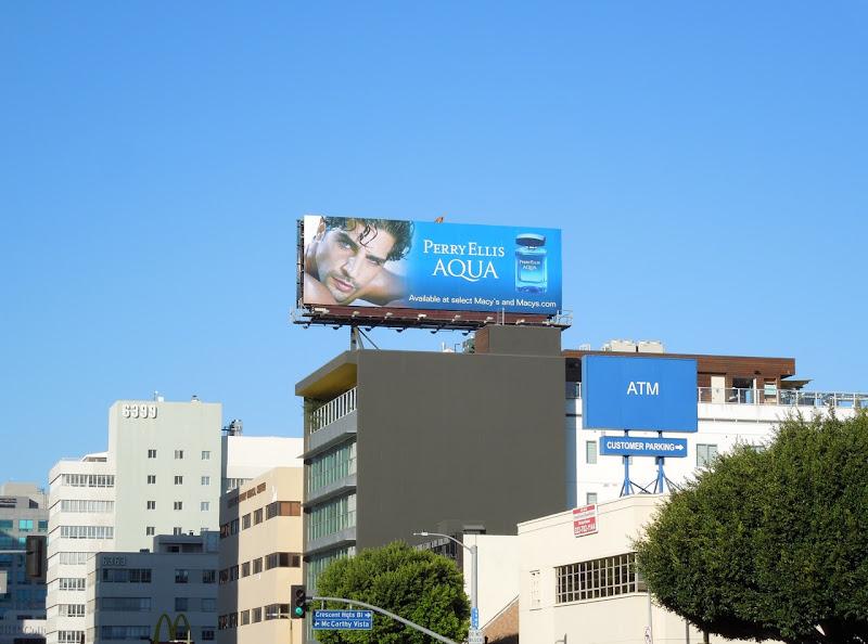 Perry Ellis Aqua fragrance billboard