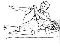 posisi meneran Berbaring miring kekiri