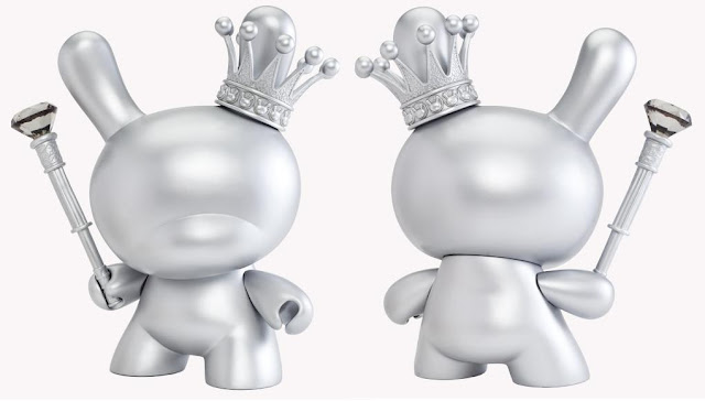 Kidrobot X: 10 Years of Art + Design - Silver King 8 Inch Dunny by Tristan Eaton