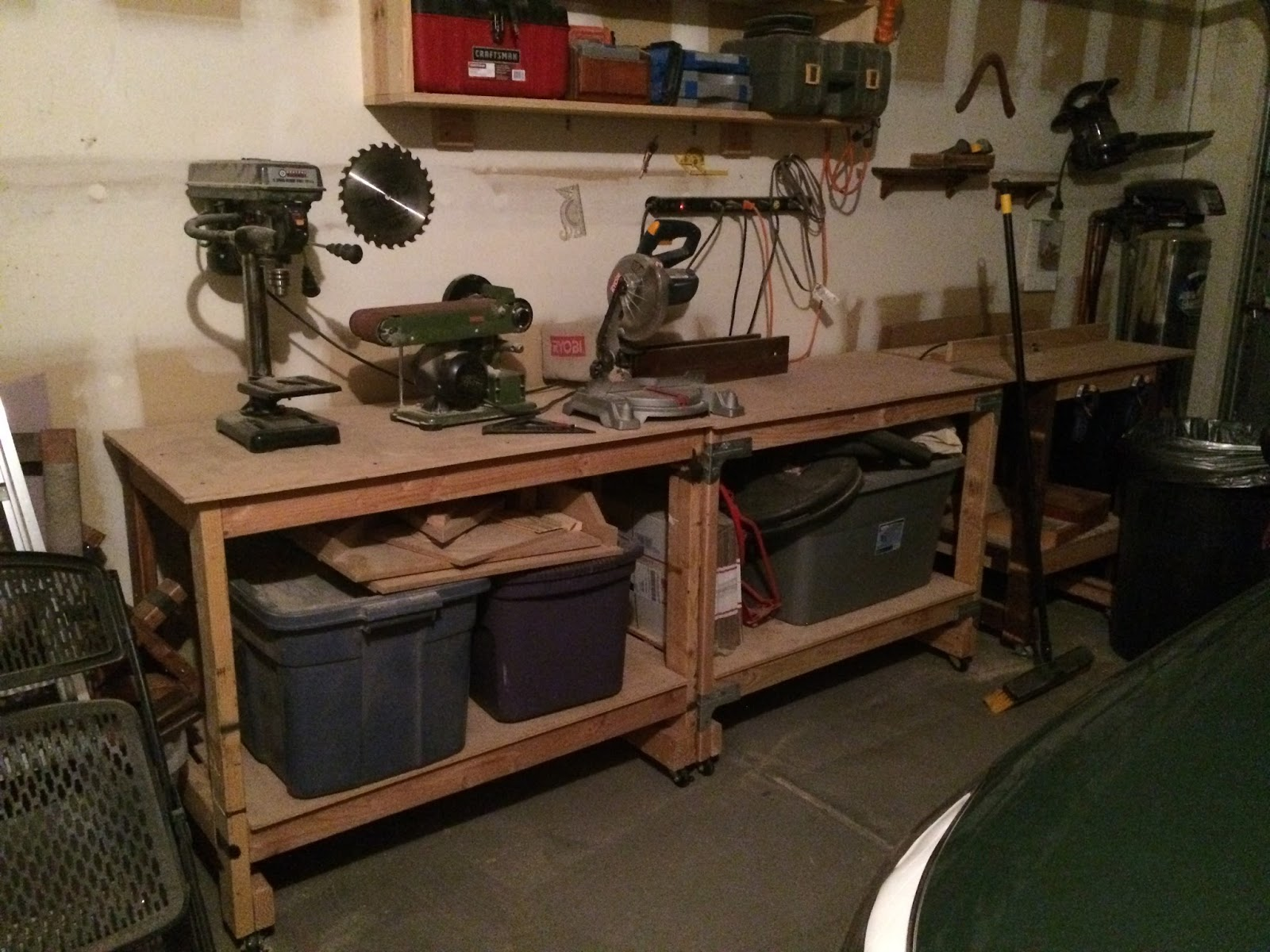 I Also Have Extra Work Tables In My Workshop That I Think I Will Utilize To  Make A New Saw Table. If Youu0027d Like To Check Out My Workshop Table Build,  ...