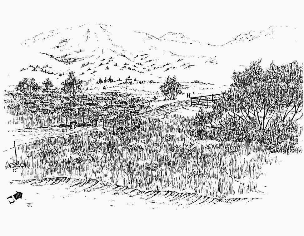 Mound fire sketch