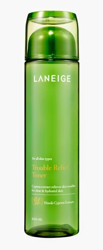 Laneige Trouble Relief Range, Laneige, Trouble Relief, Acne skincare, pimples, Laneige Trouble Relief Cream, Laneige Trouble Relief Spot Gel, Laneige Trouble Relief Toner