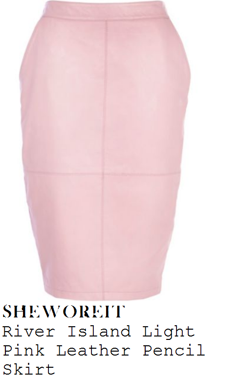 michelle-keegan-light-pink-high-waisted-leather-pencil-skirt-lorraine-fashion-awards