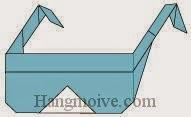 Bước 7: Hoàn thành cách xếp cái kính dâm bằng giấy theo phong cách origami.