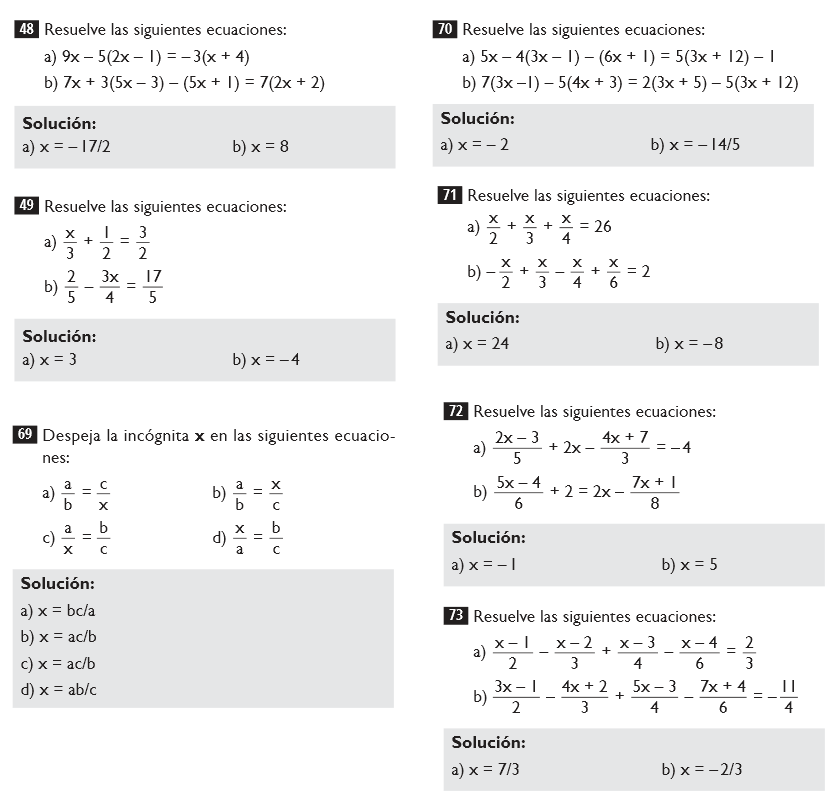 Ejercicios de matematicas para secundaria primer grado - Imagui