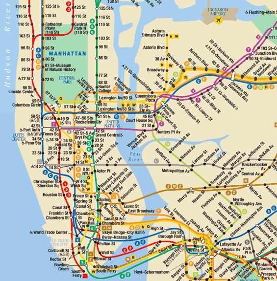 New york city metro map