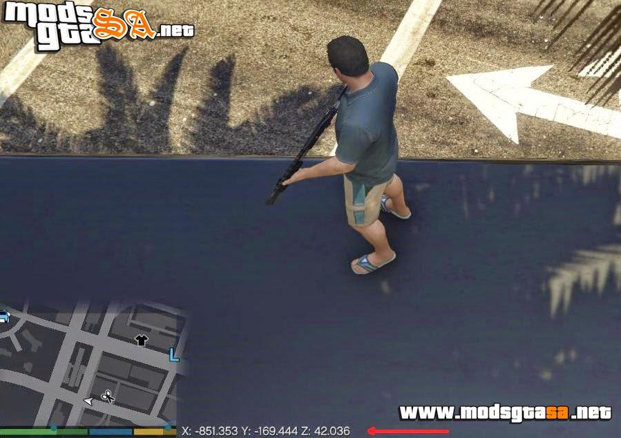 V - Mod Mostrar Coordenadas V1.1 para GTA V PC