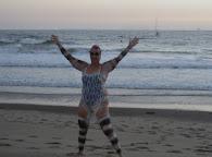 The finish on Silver Strand Beach, Oxnard