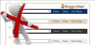 διαγραφή μπάρας blogger