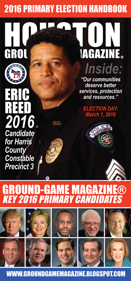 ERIC REED IS THE FEATURED PERSON ON THE COVER OF THIS EDITION OF GROUND GAME MAGAZINE®