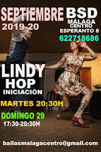 SUPER INTENSIVOS DE LINDY HOP EN SEPTIEMBRE EN BSD BAILAS SOCIAL DANCE MÁLAGA CENTRO .
