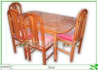 Kursi & Meja Makan Klender Oval