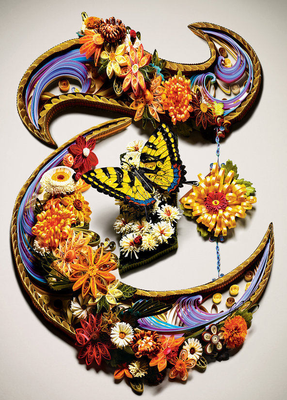 New York Times Style Magazine Quilled T