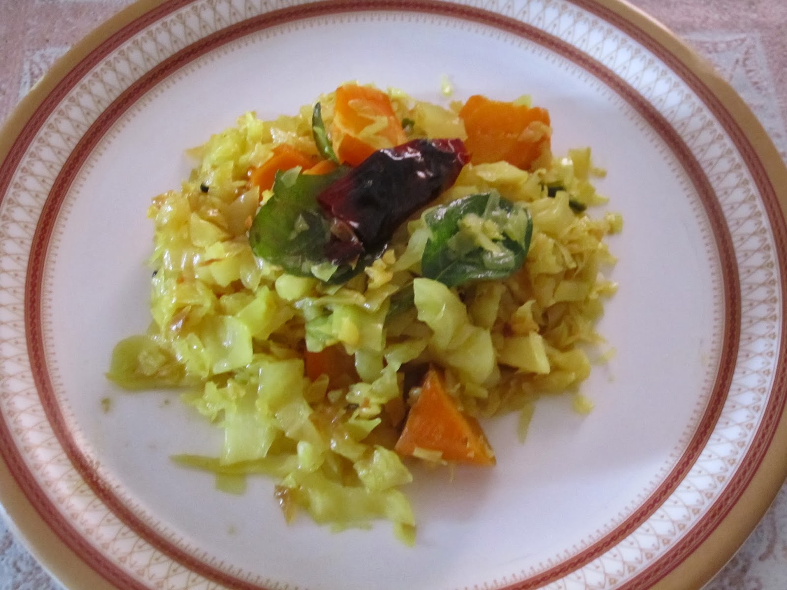 how to make cabbage curry indian style