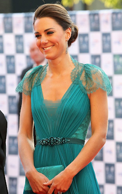 Duchess of Cambridge Kate Middleton in London 2012's Olympic and Paralympic Gala Night