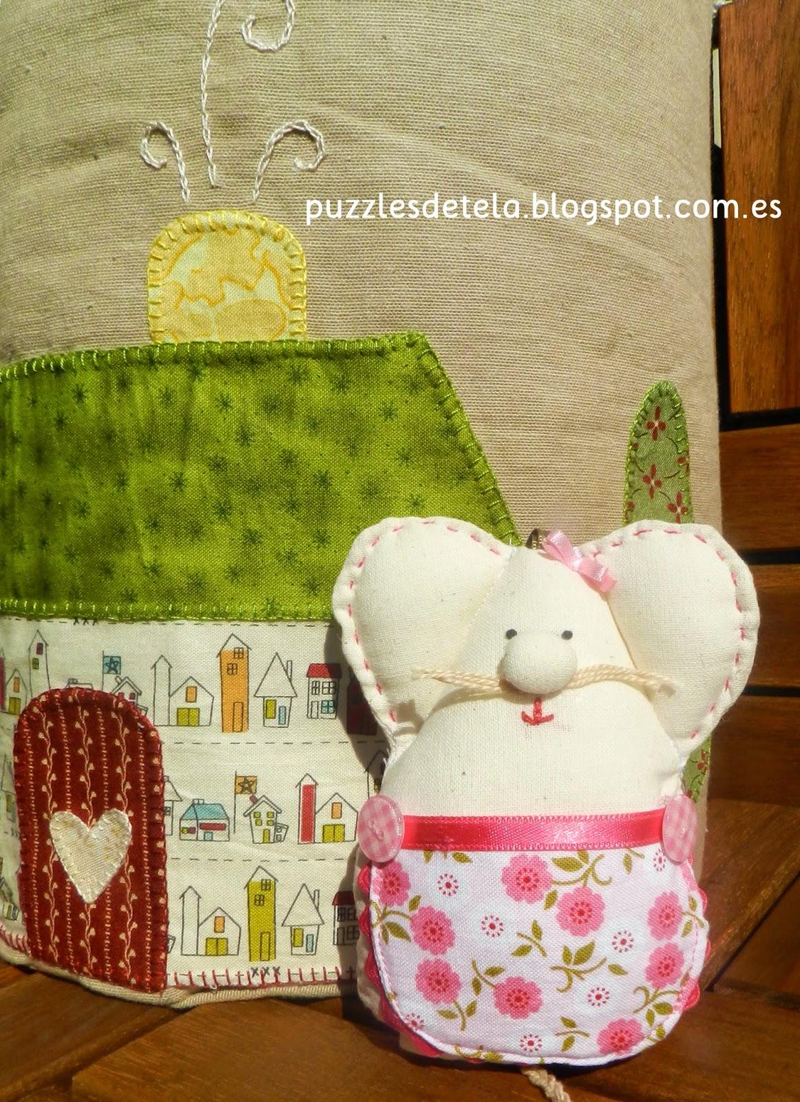 Puzzles de tela, patchwork, ratoncito pérez, ratoncita guardadientes, guardadientes,