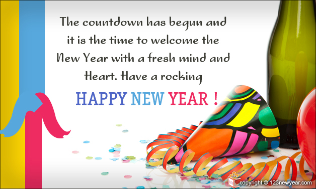 Happy New Year 2014 Wishes Greetings Card