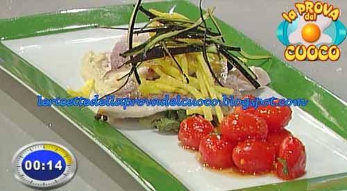 Dentice con crema di melanzane alla menta e pomodori for Cucinare dentice