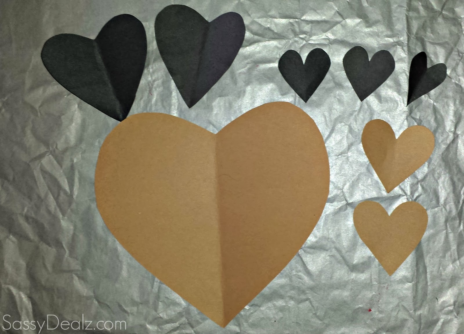 heart raccoon craft for kids