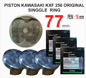 PISTON KAWASAKI KXF 250 UKURAN 77 MM PEN 16 MM