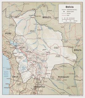 Bolivia - Hartat gjeografike në Bolivisë