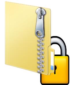 password locked zip file