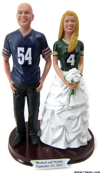 The Style Refs Wedding Series Sports Themed Wedding Cake Toppers