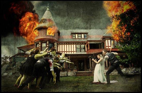 Zombie Wedding Photo