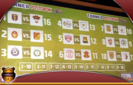 Calendario y Programación Torneo Postobon 2013