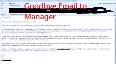 goodbye email