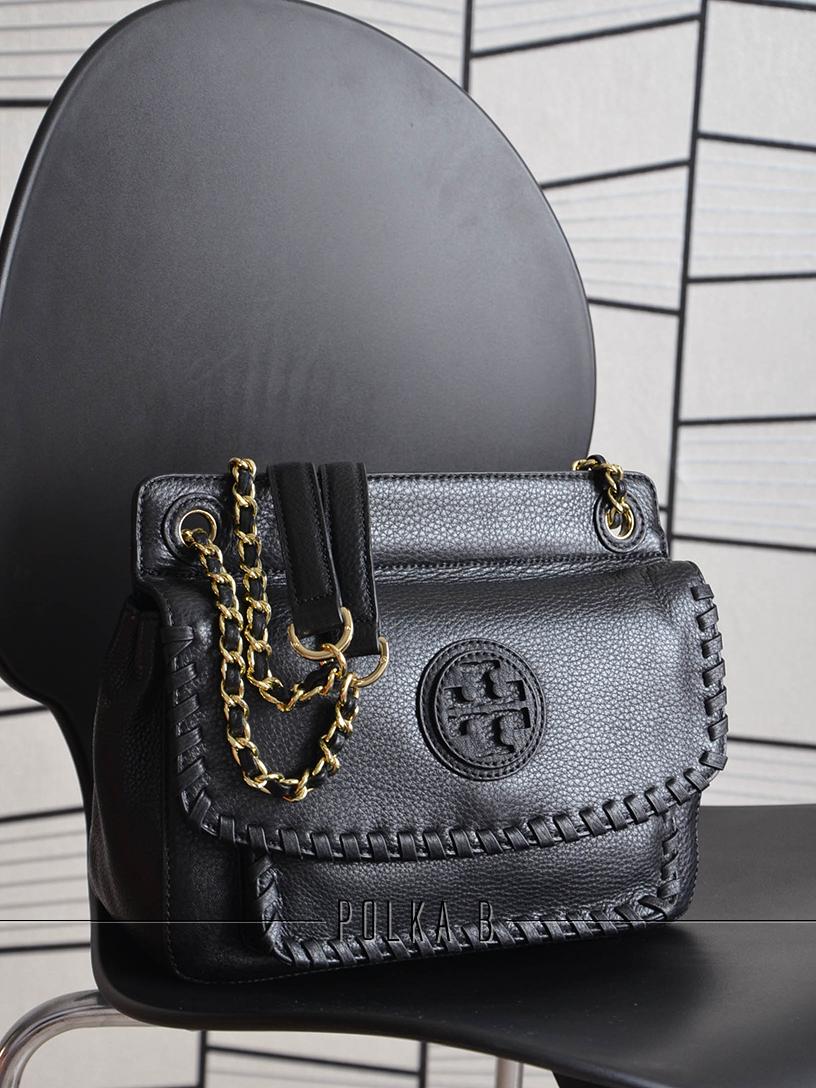 Tory Burch Marion Small Shoulder Bag Black