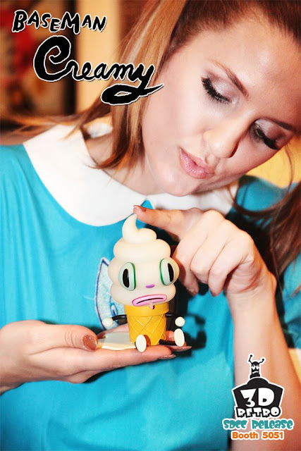 San Diego Comic-Con 2013 Exclusive Glow in the Dark Edition Creamy Vinyl Figure by Gary Baseman
