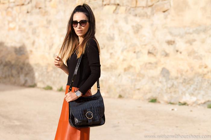 Blogger de moda española con Total look de Zara