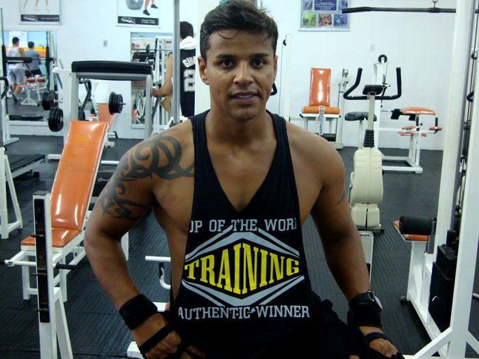 Fabio Moreno vai à academia cinco vezes por semana. Foto: Arquivo pessoal