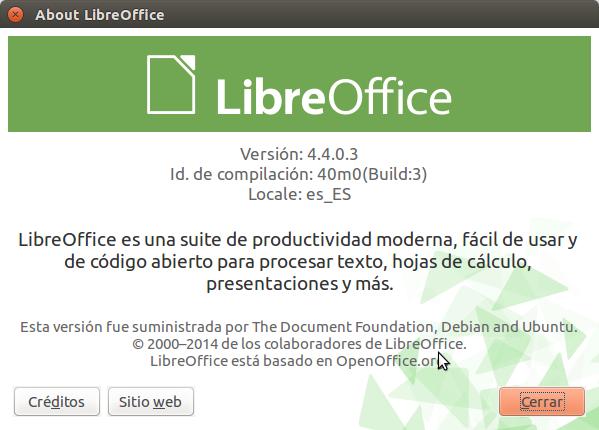 Instalar LibreOffice 4.4 en Ubuntu, actualizar libreoffice en ubuntu,