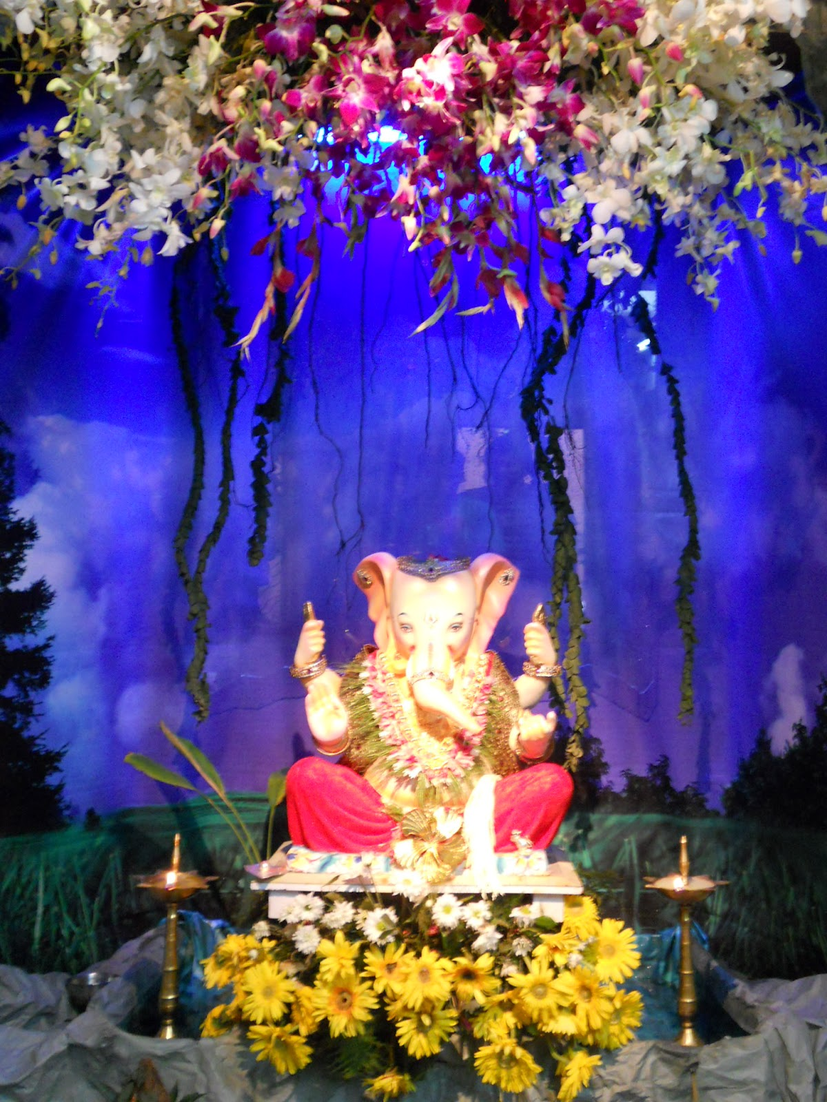 Ecobappa eco friendly decoration ideas for Decoration ganpati
