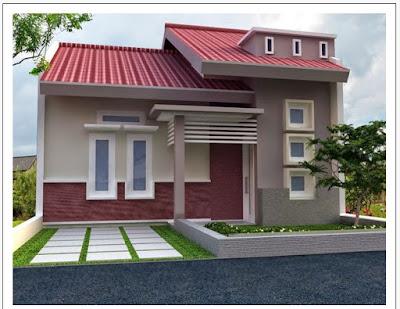 kombinasi warna cat ungu rumah