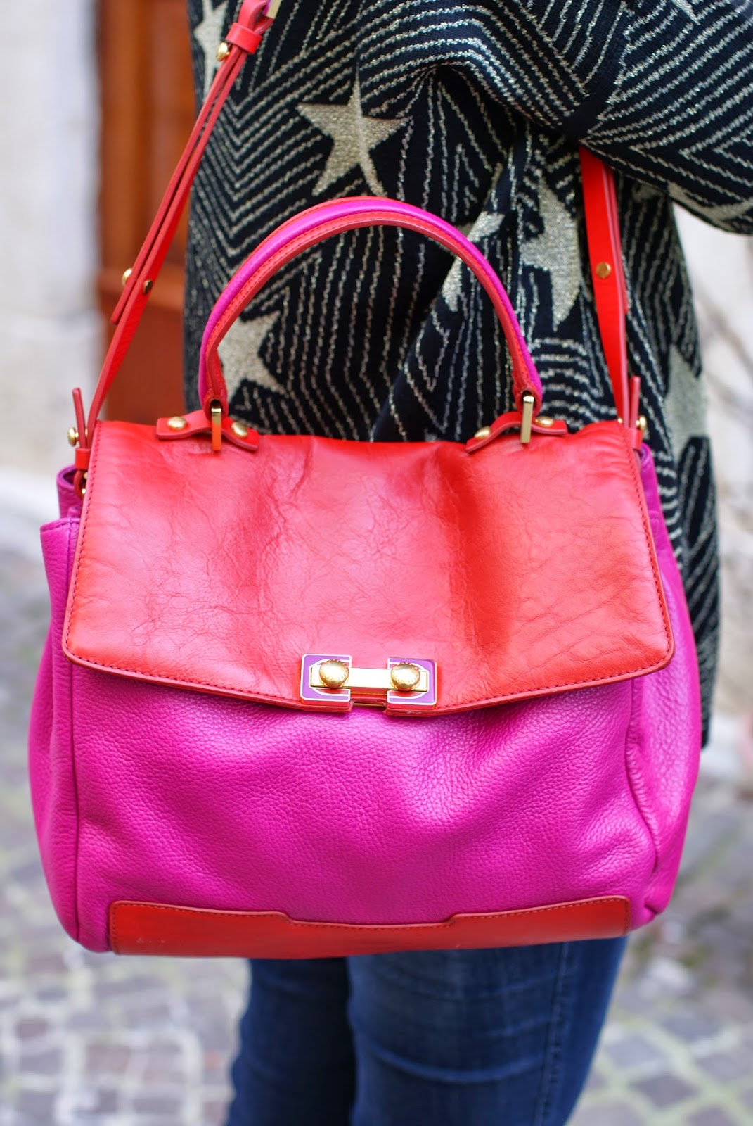 Marc by Marc Jacobs color block Bob's Memphis satchel, Fashion and Cookies, fashion blogger