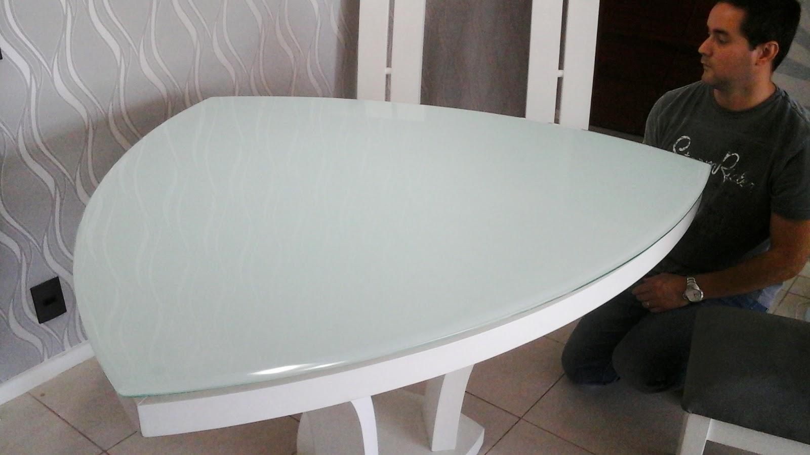 Artesanato Simples Com Eva ~ Desig n Mesa de vidro colorida
