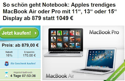 Starker Apple MacBook-Deal: MacBook ab 879 Euro bei Groupon