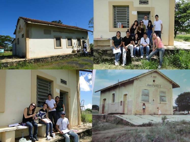 VISITA DE CAMPO DOS ALUNOS DA DISCIPLINA DE RESTAURO- Estação do Distrito de Amanhece / Araguari-MG