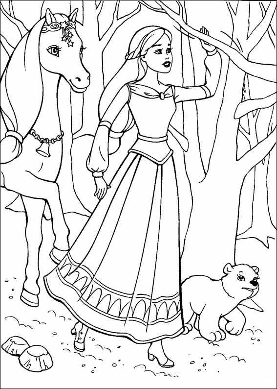 barbie girls coloring pages - photo#9