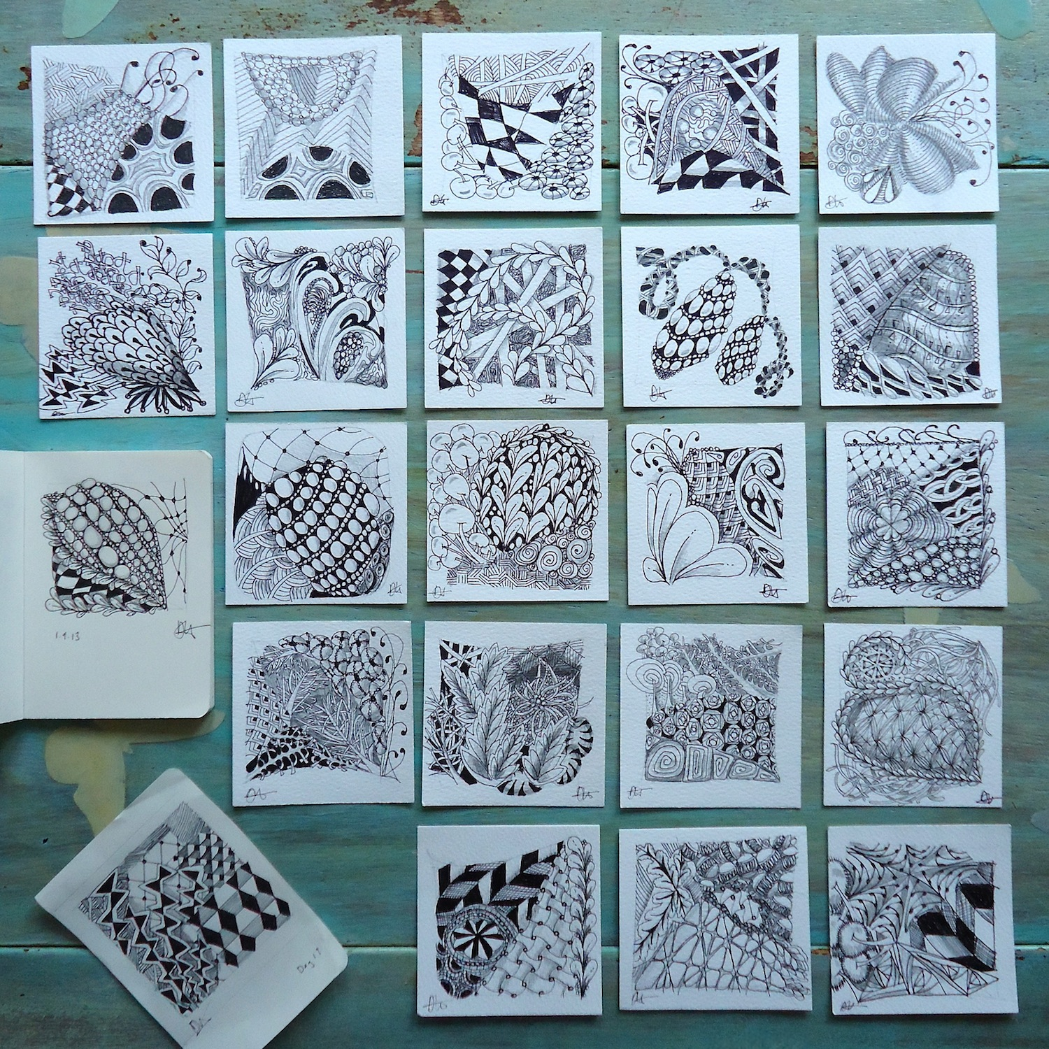 Zentangle pattern tiles by Ivy Arch