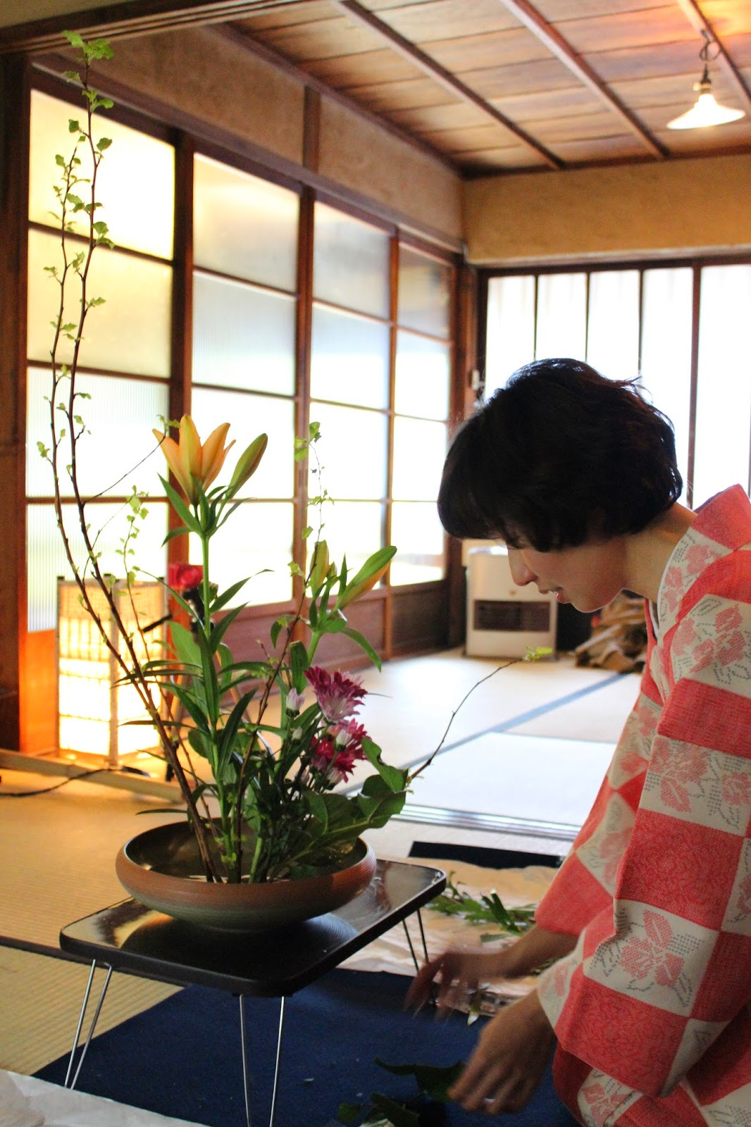 goldblatt floristik das florale raumwerk ikebana kurs in kyoto. Black Bedroom Furniture Sets. Home Design Ideas