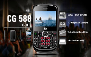 Fly Mobile CG588 dual-mode CDMA/GSM QWERTY phone launched by Tata Indicom