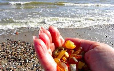 ambar del mar baltico en bruto