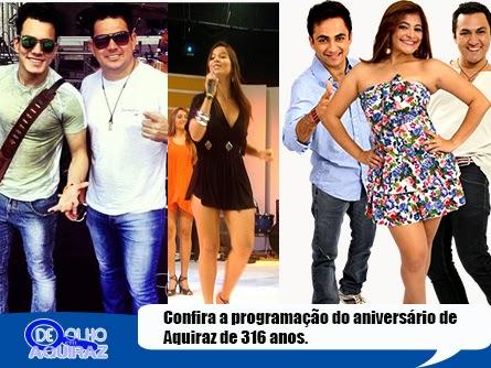 Banda Forró Do Bom, Rafaella Manville e a dupla Luis Marcelo e Gabriel no aniversário de Aquiraz