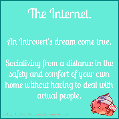 Introvert Internet | www.SpicyPinkInspirations.com