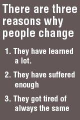 Reasons People Change