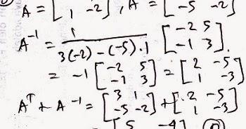 Cara Mencari Matriks Dengan Invers Suksesprivat